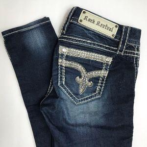 Rock Revival Sherry Bling Skinny Jeans - size 26